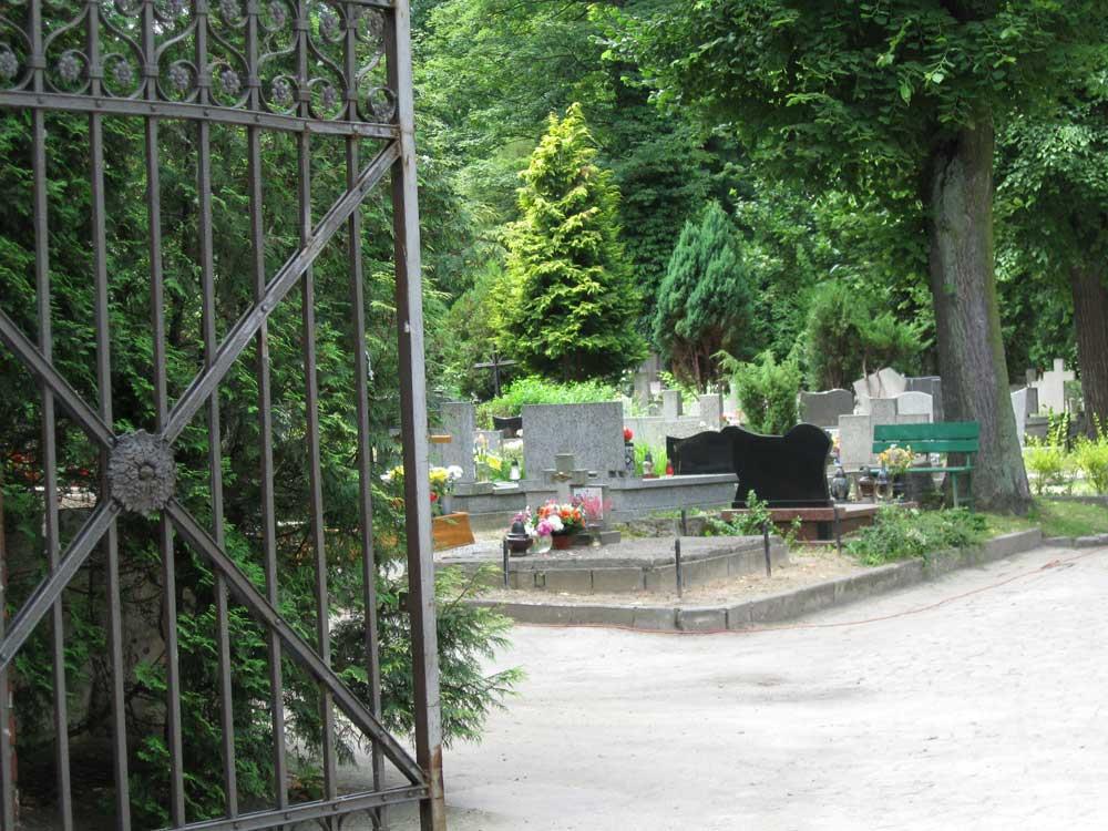 Entry to a Polish cementery