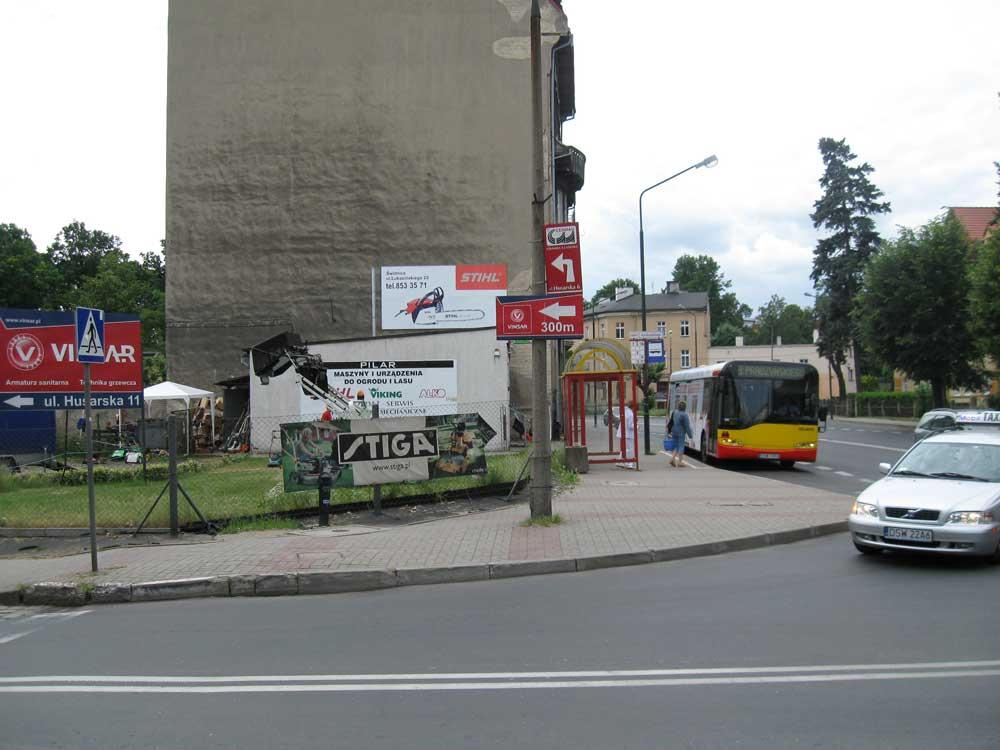 Polish billboards on streets