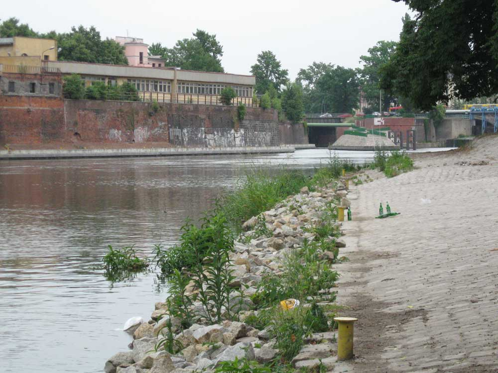 Odra River in Wroclaw
