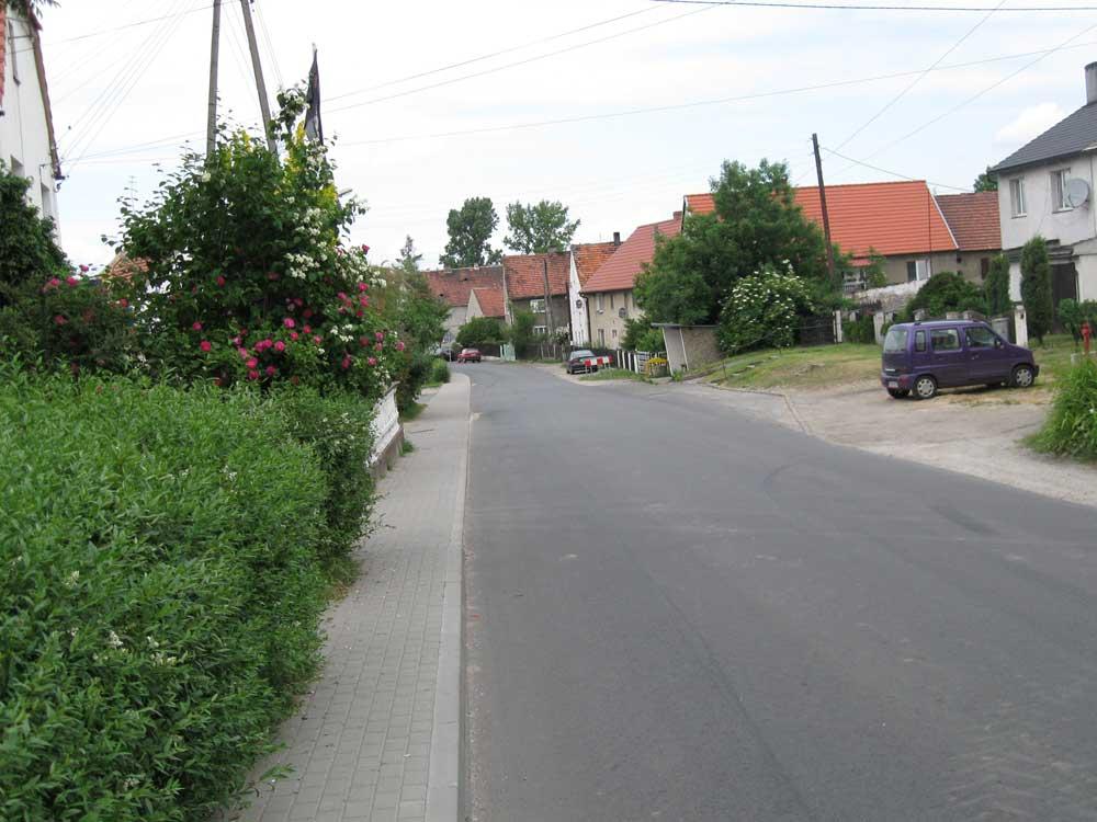 Village street in Poland