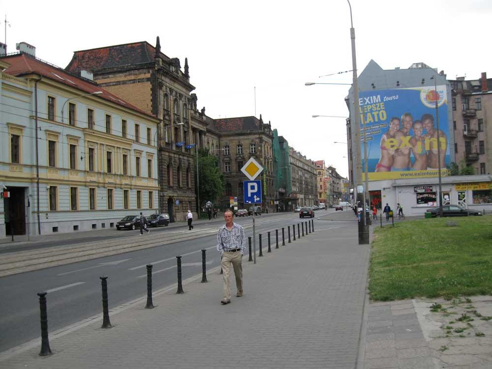Busy street in Wroclaw